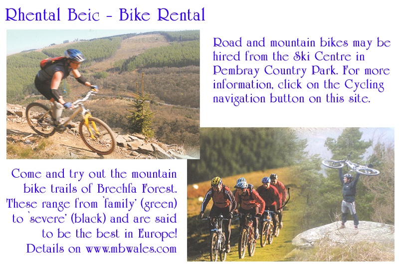 Bed and Breakfast Mountain Bike Hire