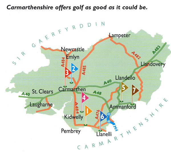 Bed and Breakfast Golf in Carmarthenshire